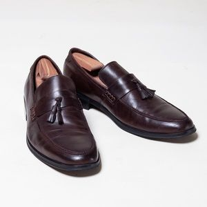 Steve Madden 11 Mens Brown Leather Tassel Loafers